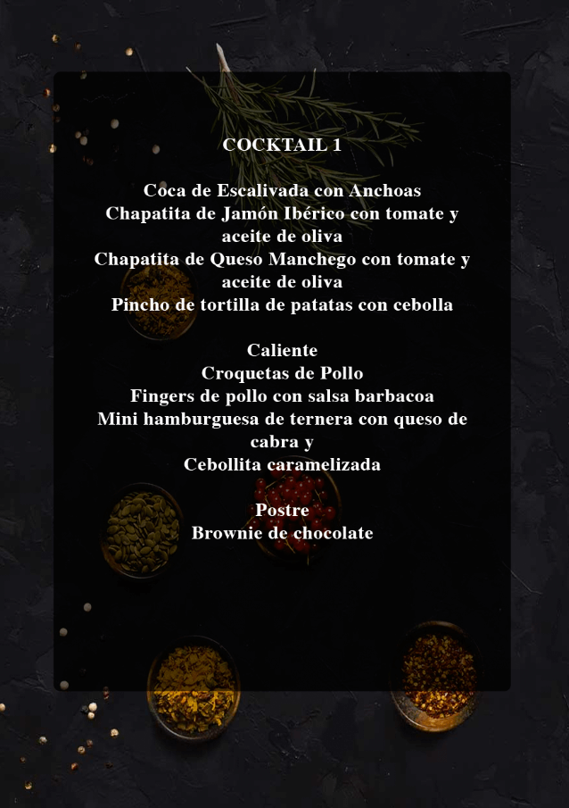 Menu cocktail 1