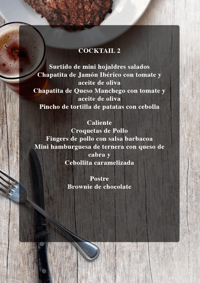 Menu cocktail 2